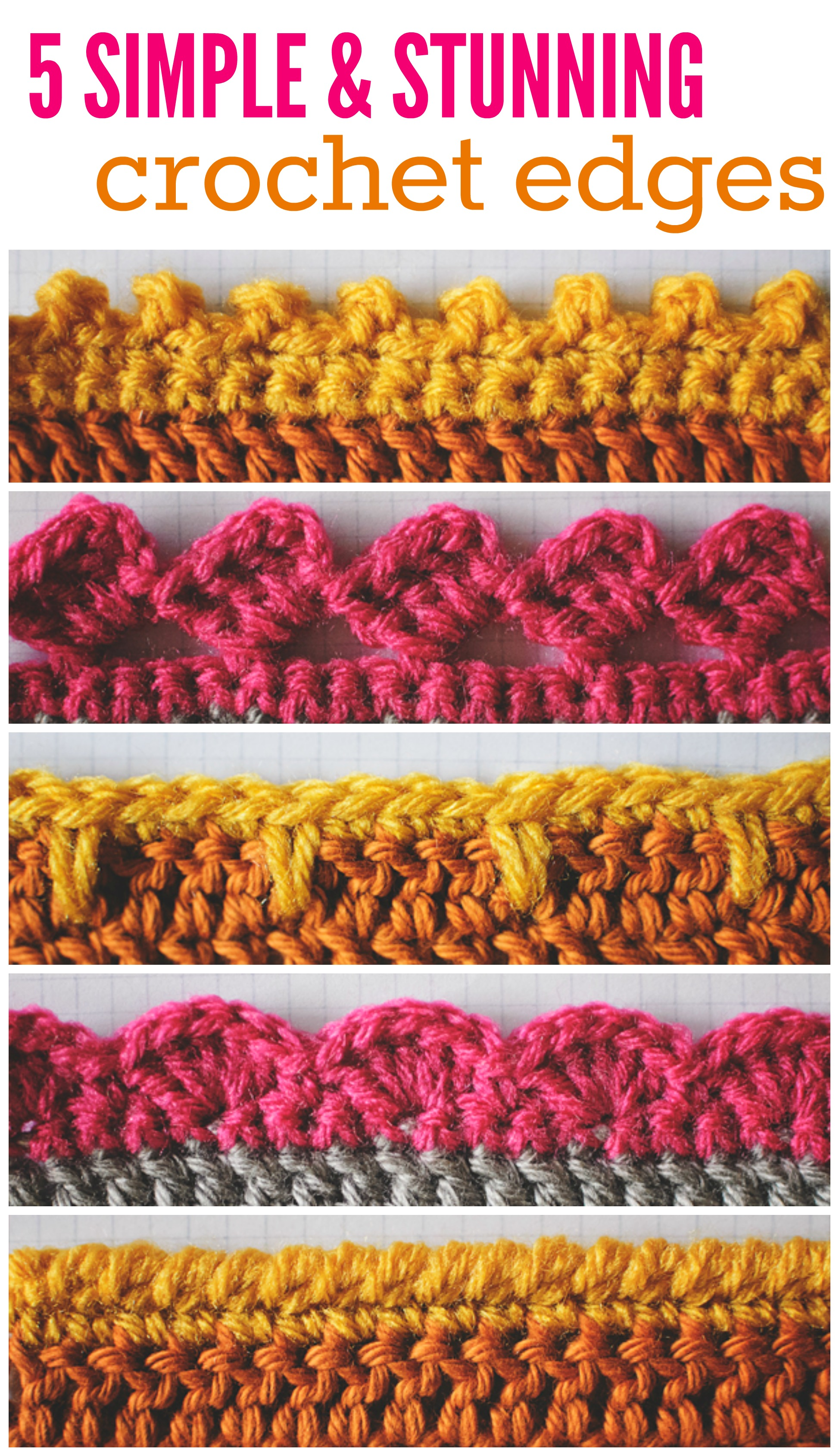 5 Simple And Stunning Crochet Edges Free Patterns