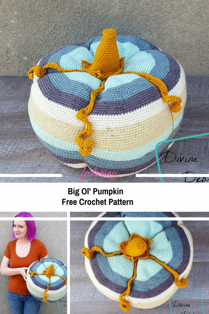 Big Ol' Pumpkin Free Crochet Pattern Is Perfect For The Fall Season