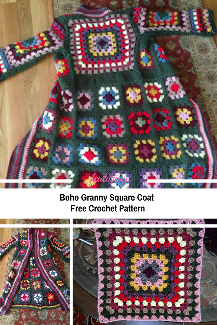 Fabulous Boho Granny Square Coat