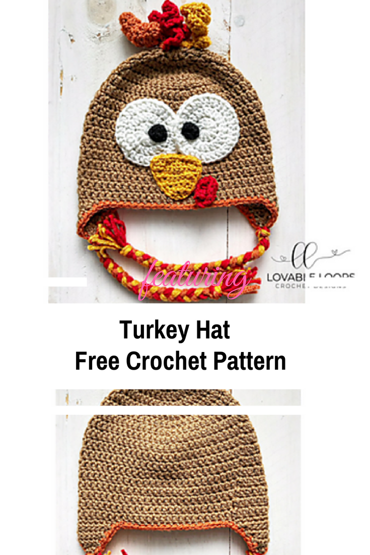 Really Easy And Cute Thanksgiving Turkey Hat Free Pattern All Sizes