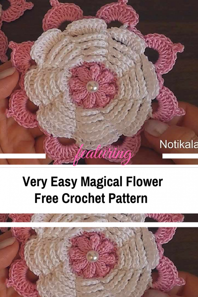 Very Easy Magical Crochet Flower Video Tutorial Knit And Crochet
