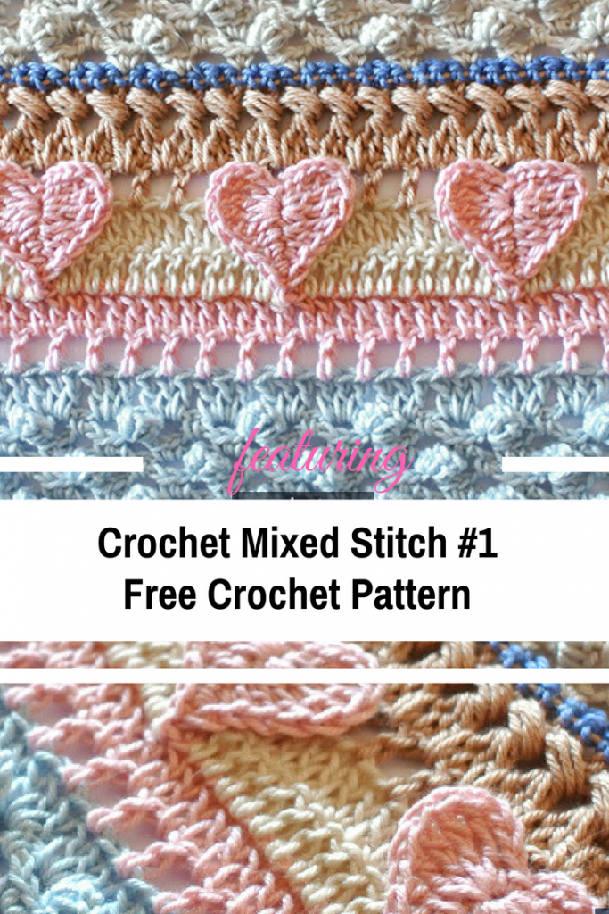 Learn A New Crochet Stitch: Crochet Mixed Stitch #1 Free Pattern