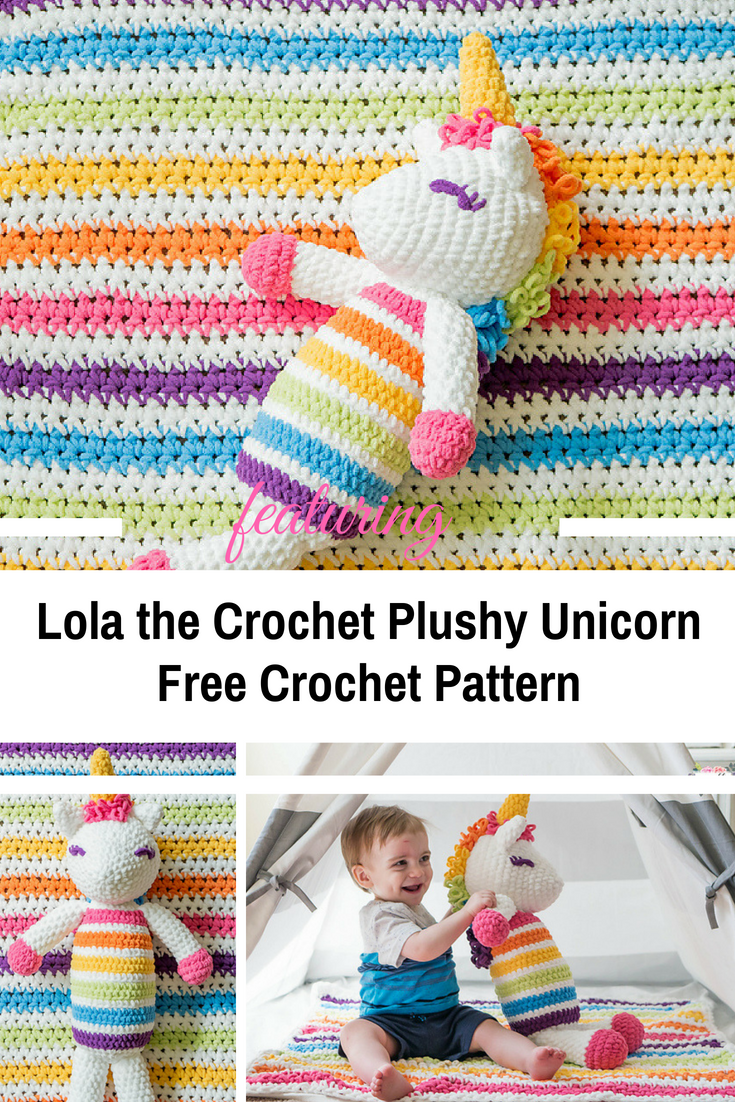 Gorgeous Lola the Crochet Plushy Unicorn [Free Pattern]