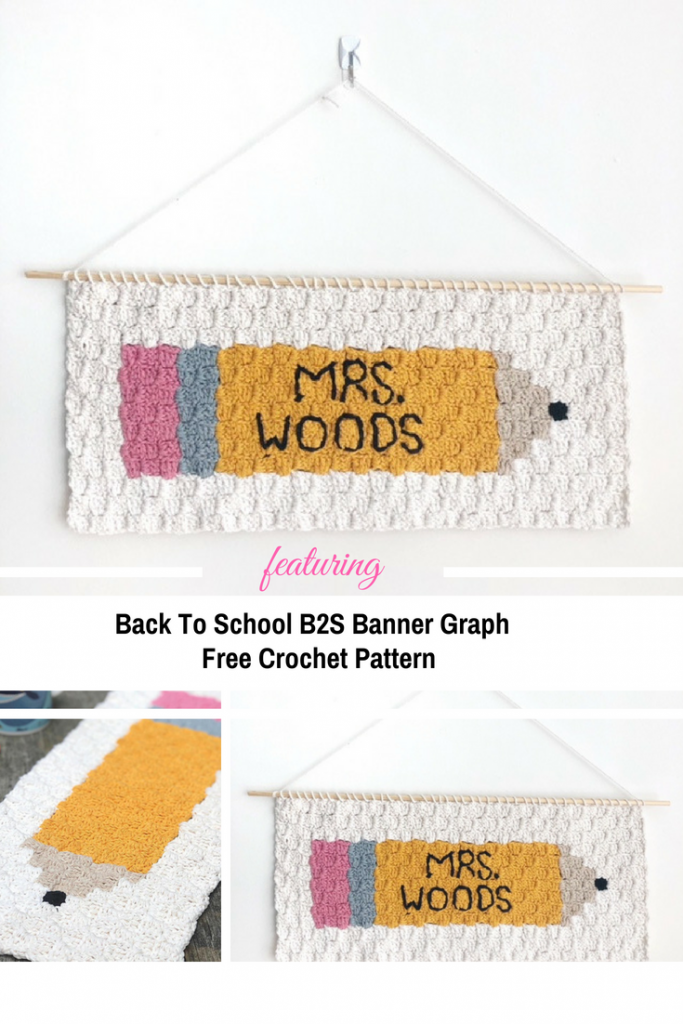 This Back To School Crochet Banner Is The Best Teacher Appreciation Gift