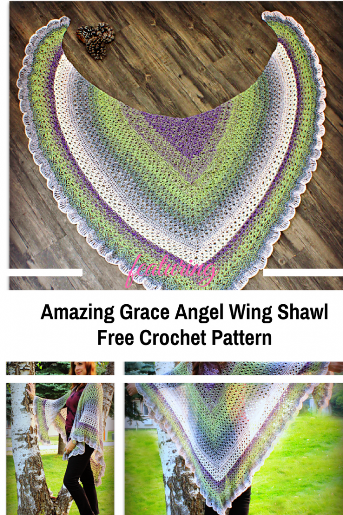 Amazing Grace Angel Wing Shawl Free Crochet Pattern
