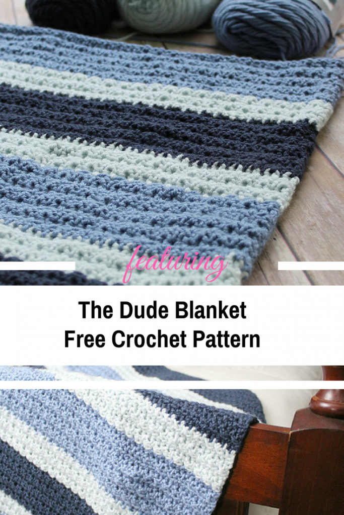 The Dude Blanket Is Simple And Sturdy, Just Like Most Men Like It! [Free Pattern]
