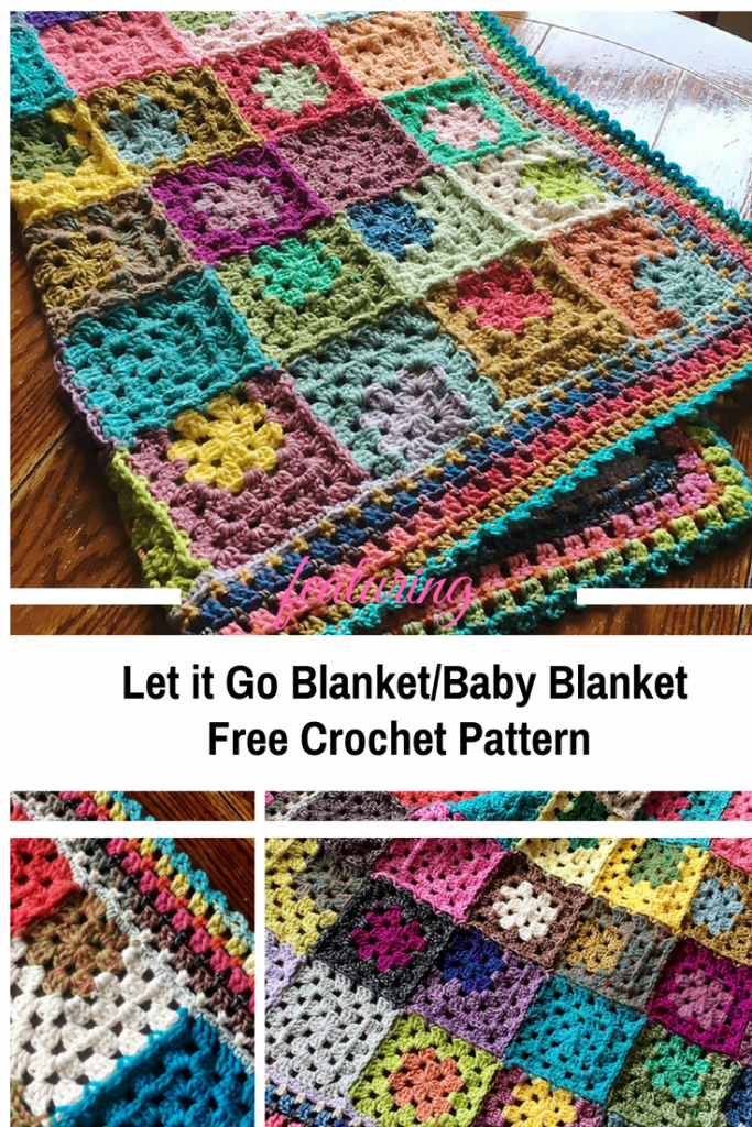Let it Go Crochet Blanket Free Pattern Is A Grannytastic Stash Buster (Written And Video Instruction)