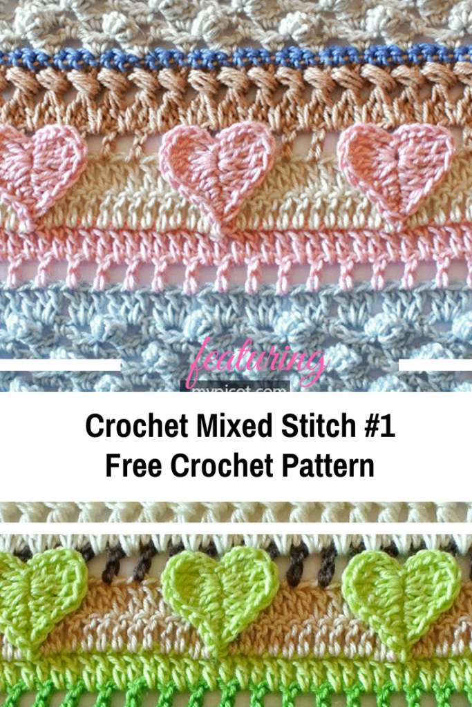 Crochet Mixed Stitch #1 Free Pattern