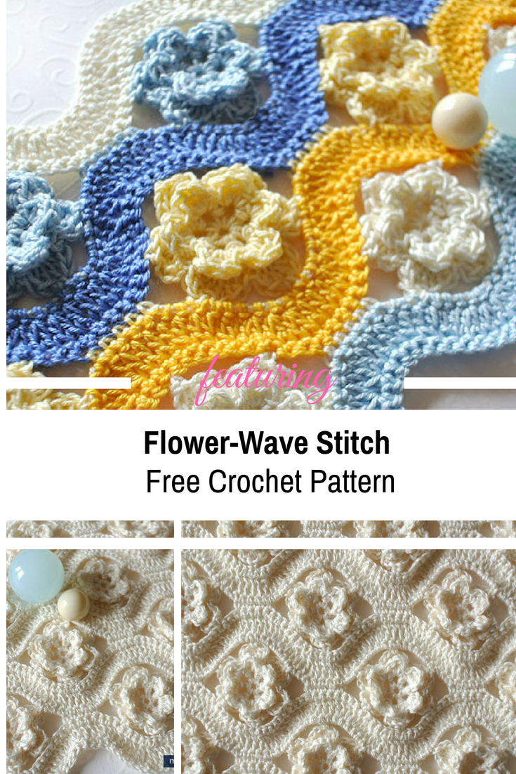 Crochet Flower-Wave Stitch Free Pattern