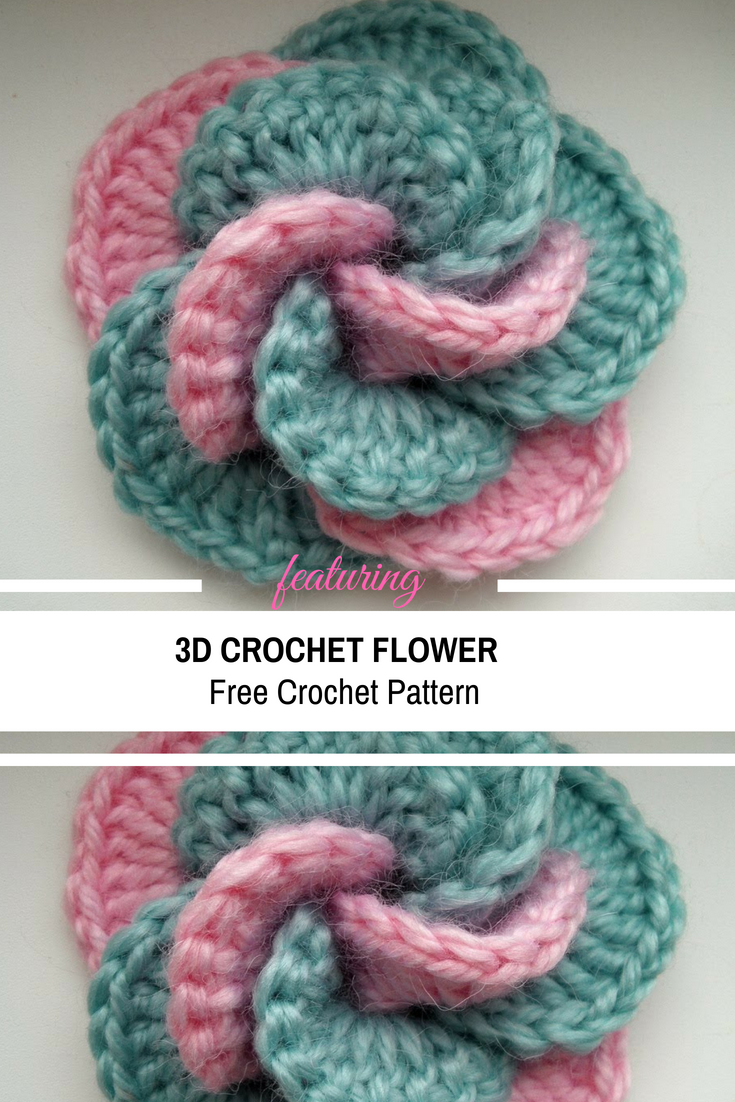 [Video Tutorial] Spectacular 3D Crochet Flower