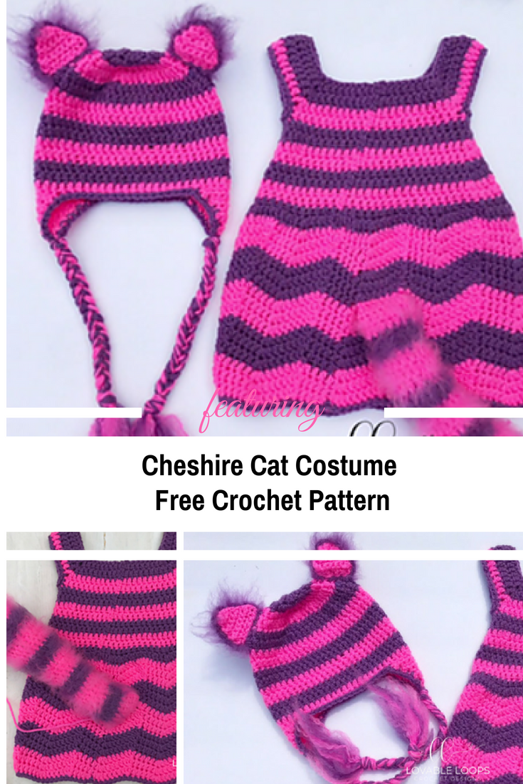 [Free Pattern] Adorable Cheshire Cat Costume For Babies
