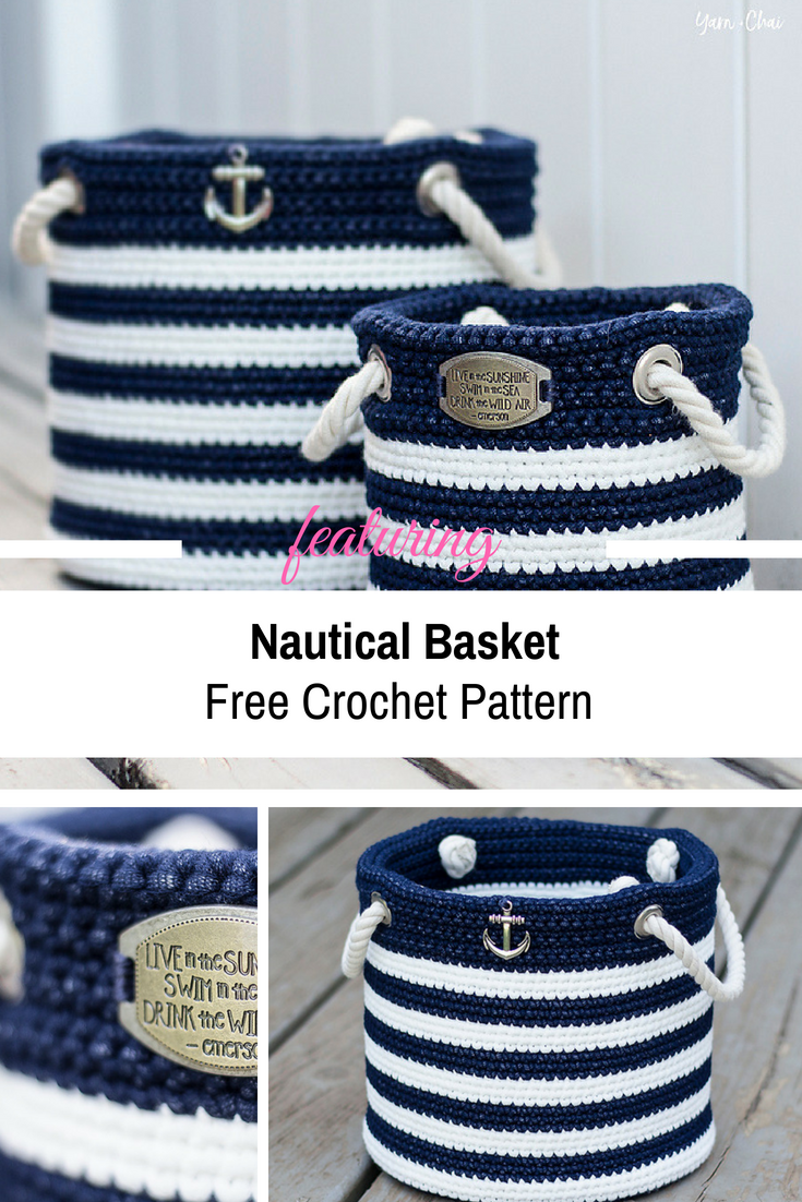 [Free Pattern] These Super Easy Nautical Baskets Look Like Something Out Of A Catalog