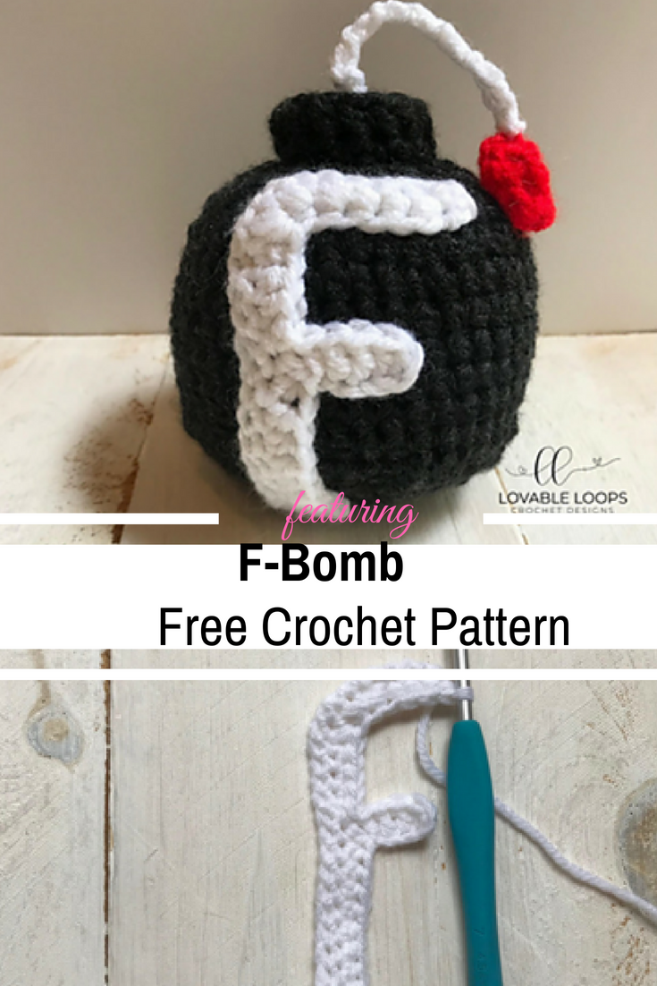This F Bomb Crochet Pattern Is The Perfect Profane Present For A Co-Worker, Family member, Or Friend [Free Pattern]
