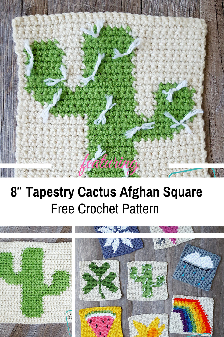 [Free Pattern] Cute Tapestry Crochet Cactus Granny Square