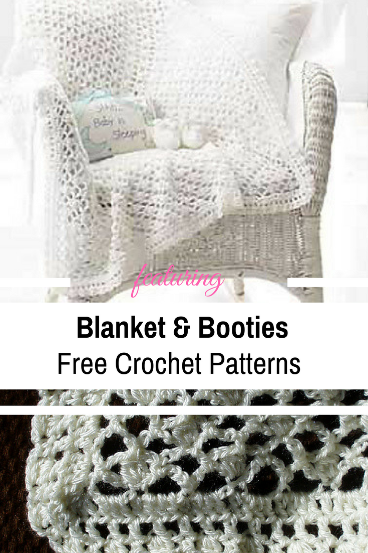 Beautiful, Soft Baby Blanket And Booties Set For The New Little One [Free Patterns]
