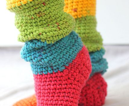 Quick And Easy Slouchy Slipper Socks Free Pattern Knit And