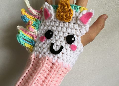 Colorful Unique And Weather Friendly Unicorn Fingerless Gloves