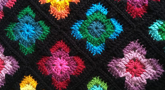 Retro Vibe Square And Bedspread Free Crochet Pattern Knit And