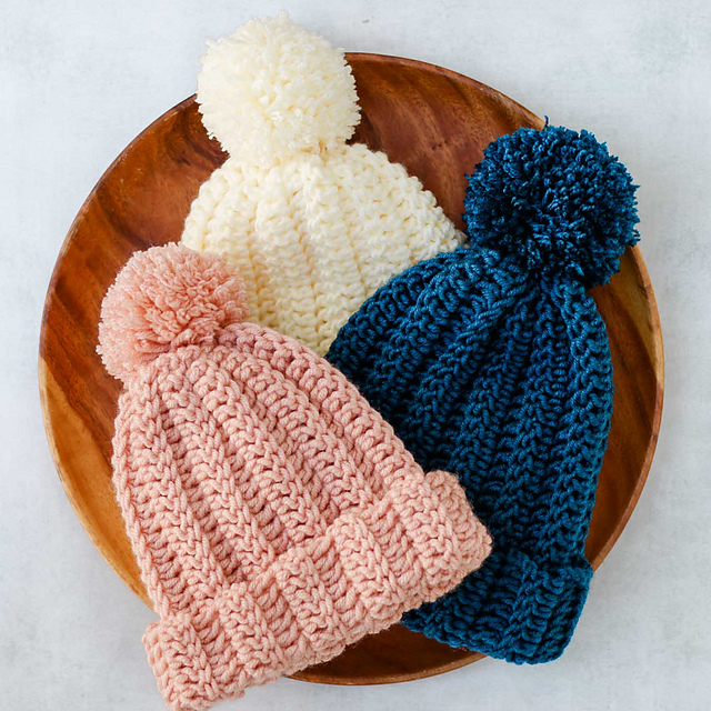 Very Easy One Hour Beanie Crochet Pattern - Knit And ...