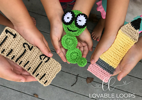 School Themed Free Crochet Bookmark Patterns