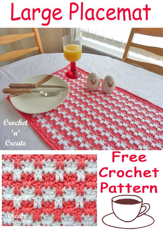 Large Free Crochet Placemat Pattern To Match Any Decor