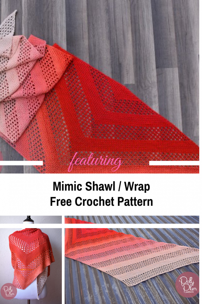 Incredibly Easy And Gorgeous Trapezoid Shaped Shawl [Free Pattern]