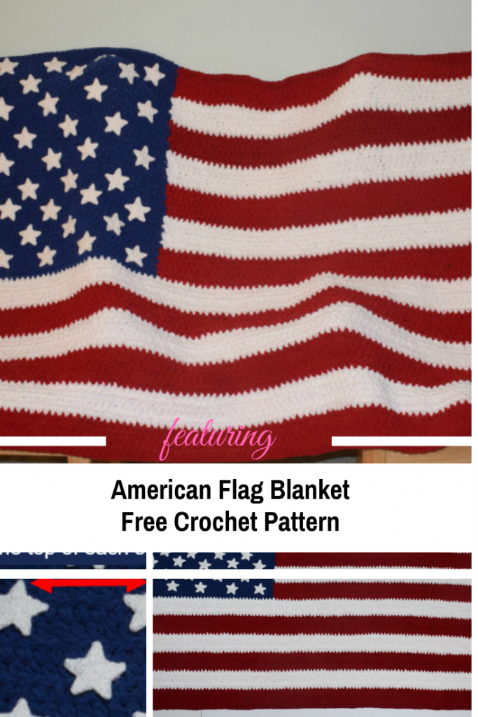 American Flag Blanket Free Crochet Pattern For Anyone Feeling Patriotic
