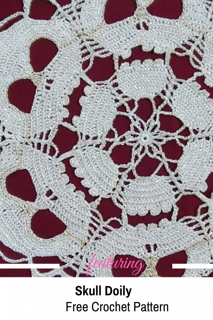 Skull Doily Free Crochet Pattern Designed With Amazing Artfulness