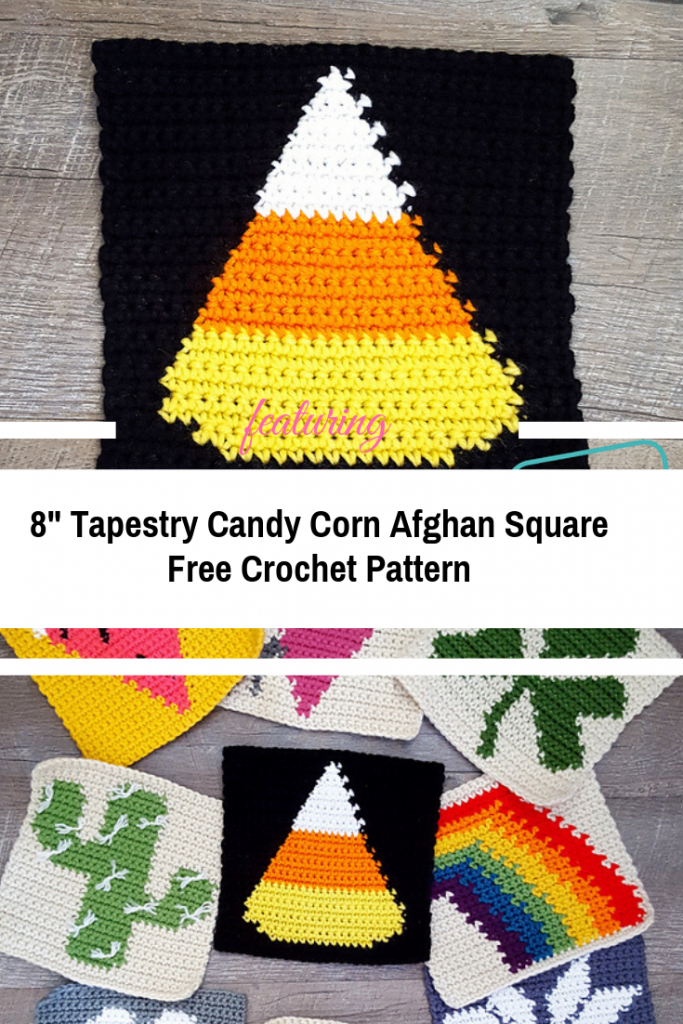 Halloween Isn't Complete Without A Tapestry Candy Corn Afghan Square [Free Pattern]