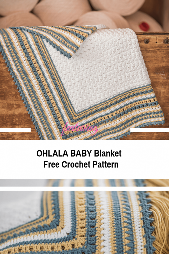 Very Soft And Lightweight Baby Blanket Crochet Pattern
