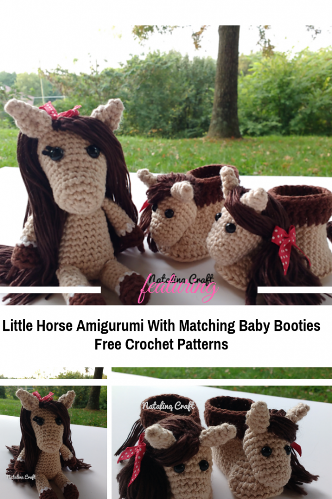 Lovely Baby Gift Crochet Patterns-Little Horse Amigurumi With Matching Baby Booties Free Crochet Patterns