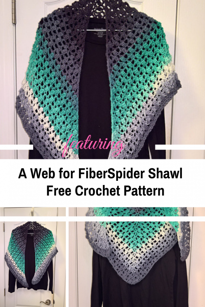 Stunning One Row Crochet Shawl With Free Pattern