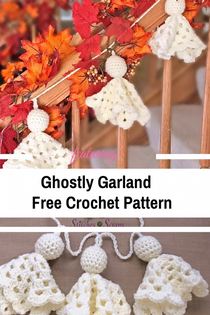Cute Crochet Ghost Pattern To Add To Your Halloween Decor