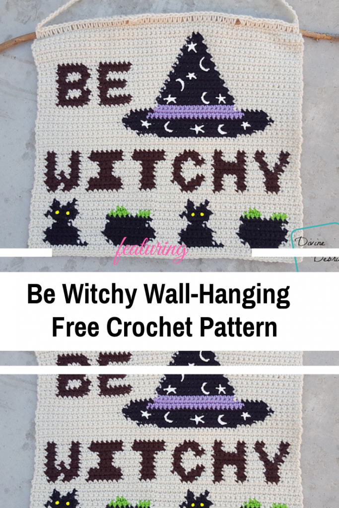 Simple And Cute Be Witchy Crochet Wall Hanging To Add To Your Room [Free Pattern]