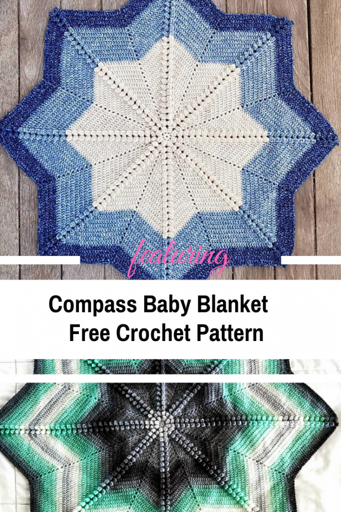 Elegant And Simple 8 Point Star Baby Blanket Free Crochet Pattern Knit And Crochet Daily