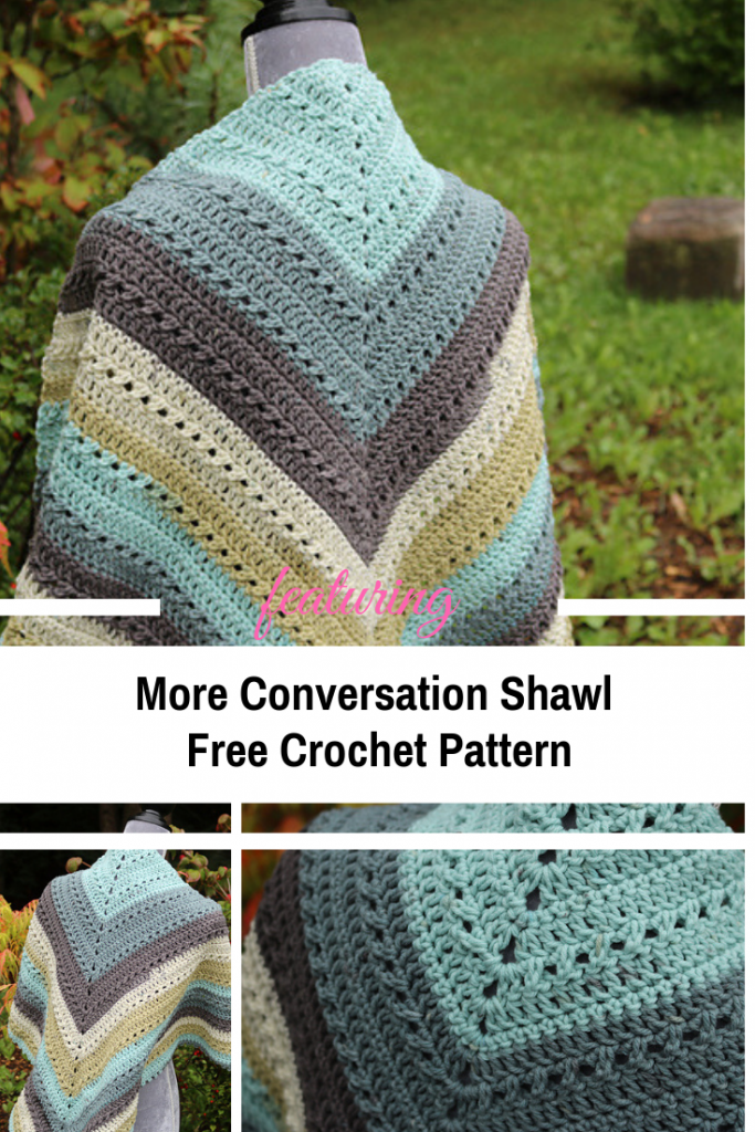 Easy Crochet Prayer Shawl With An Easy Repeat Pattern Knit And