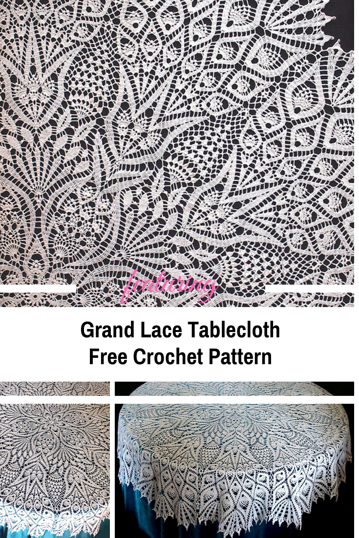 Breathtaking Crocheted Circular Tablecloth Pattern Knit And