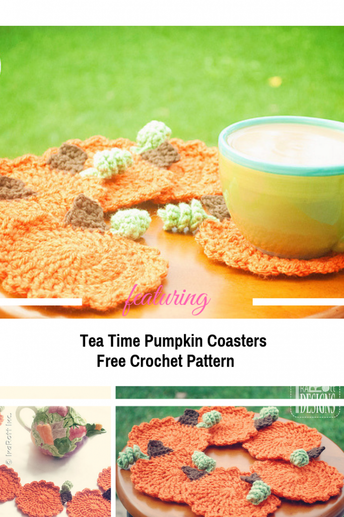 Crochet Pumpkin Coasters