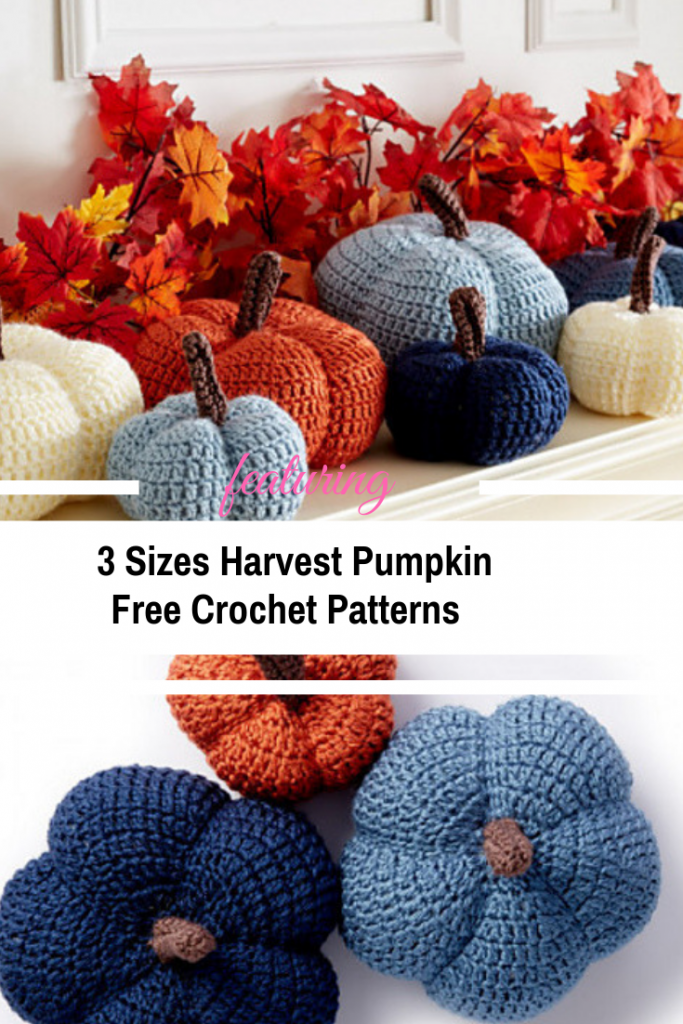 Three- Sizes Crochet Pumpkin Free Patterns