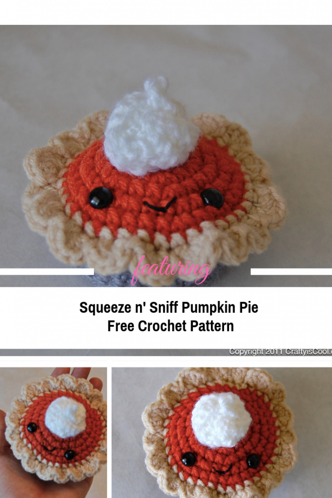 Cute Crochet Pumpkin Pie