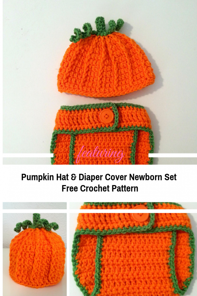 Crochet Pumpkin Hat And Diaper Cover