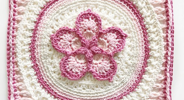 Fabulous 5 Petals Flower Square Free Crochet Pattern Knit And