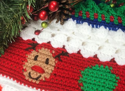 Christmas Crochet Blanket Free Pattern.Gorgeous Free Christmas Crochet Blanket Pattern