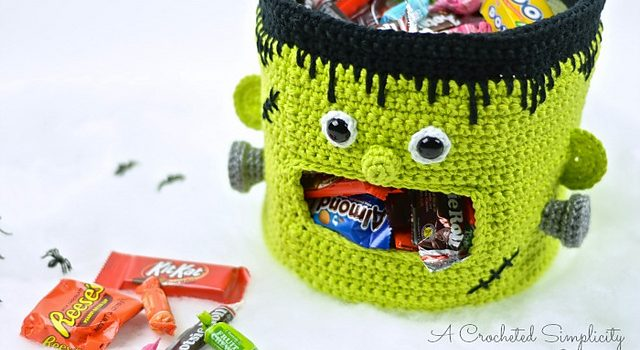 Genius Frankenstein Candy Bowl Crochet Pattern Knit And Crochet Daily
