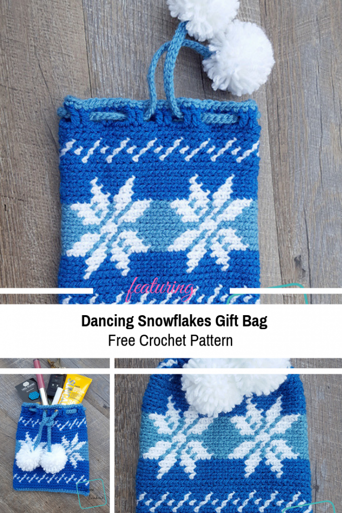 Cute Crochet Gift Bag Free Pattern You Can Use For Christmas Time And All Throughout The Winter