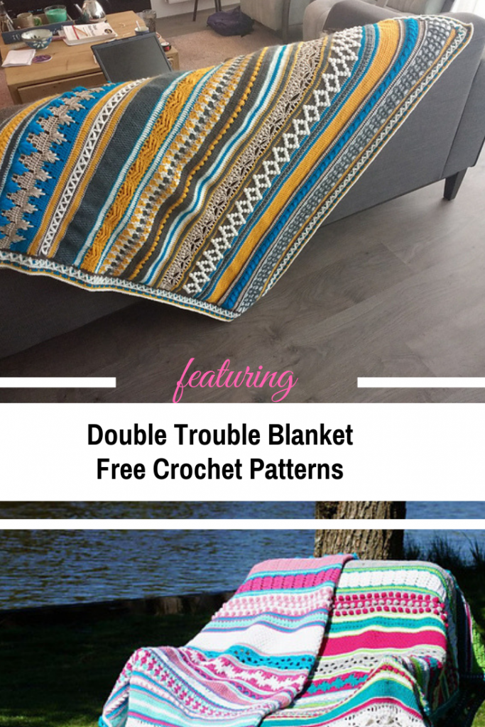 [Free Pattern] Gorgeous Double Trouble Blanket Crochet Pattern That Is Perfect For Your Winter Crochet Patterns Collection