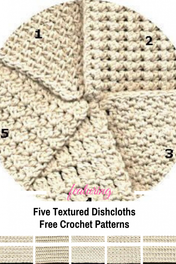 [Free Pattern] Five Textured Dishcloth Crochet Patterns You Will Love