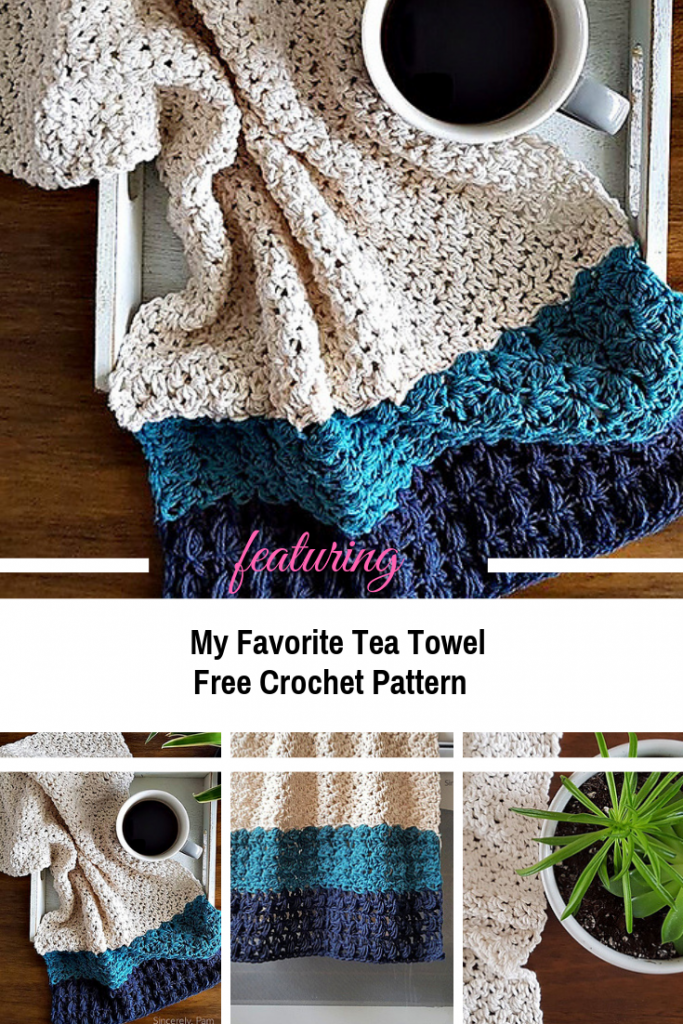 [Free Pattern] Easy Tea Towel Crochet Pattern To Add Style To Your Kitchen