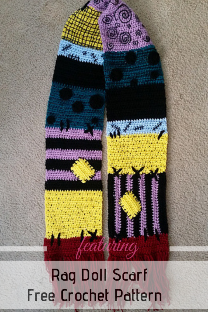 [Free Pattern] Easy Rag Doll Scarf With A Fun Design