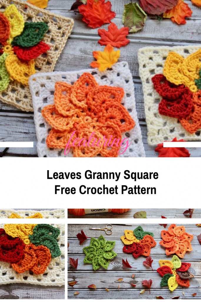 Fall Leaves Granny Square Free Crochet Pattern